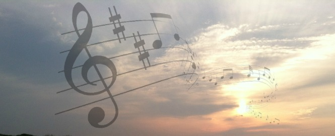 music, sunrise