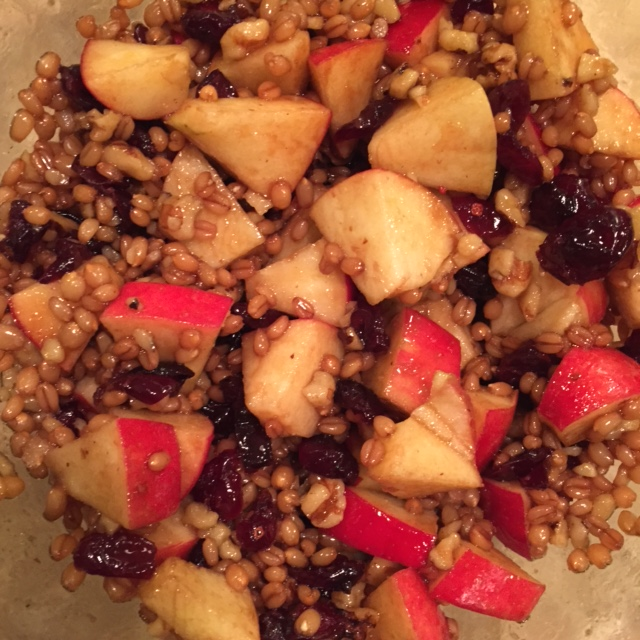 Wheat Berry and Apple Salad