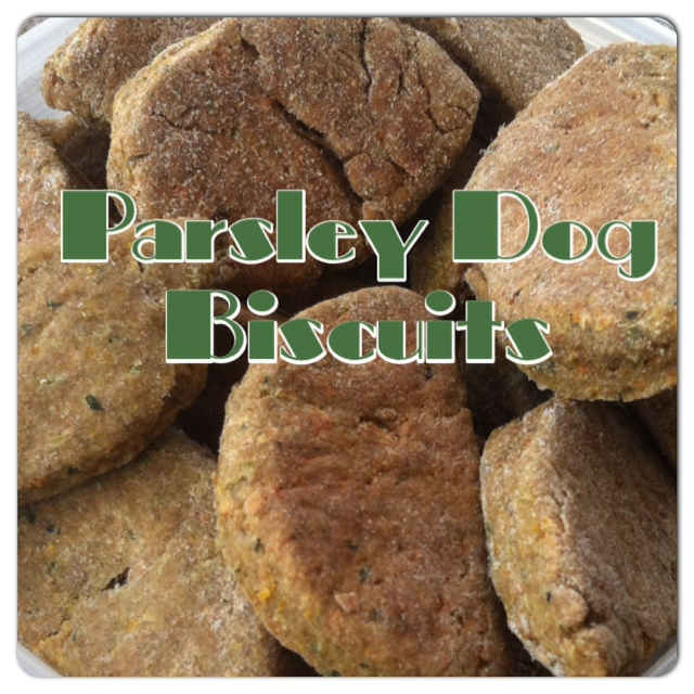 Parsley Dog Biscuits, Healthy Dog Treats